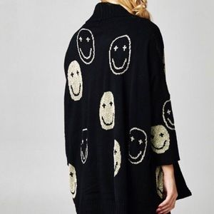 Sweaters - Be Happy Smiley Face Sweater